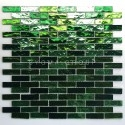 glass mosaic for kitchen wall or bathroom model LUMINOSA VERT