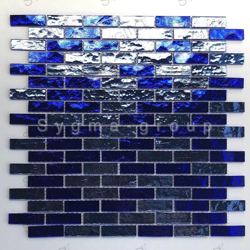 carrelage mosaique pour mur de salle de bains et cuisine modèle LUMINOSA BLEU
