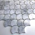 Mosaico de mármol blanco pavimento y revestimiento modelo TIMPA