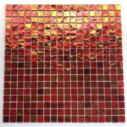 glass mosaic for wall and bathroom gloss orange