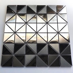 stainless steel mirror mosaic stainless steel tile for wall model KUBU