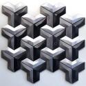 Mosaique carrelage en aluminium pour cuisine ou salle de bains modele Daasie
