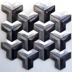 piastrella mosaico in alluminio per cucina o bagno modello Daasie