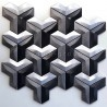 aluminum mosaic tile for wall kitchen or bathroom model Daasie