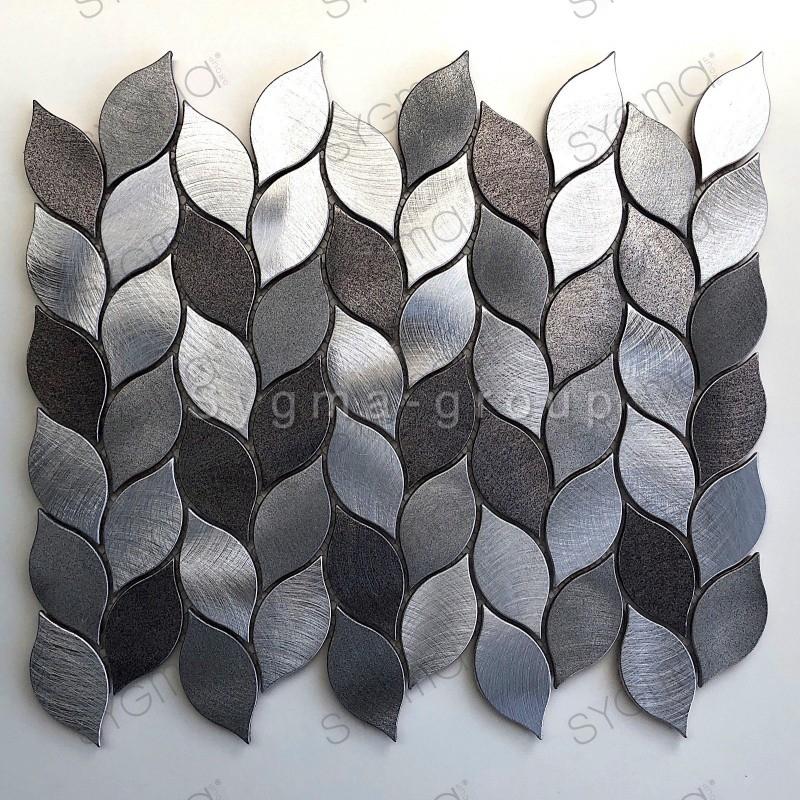 carrelage mosaique en aluminium pour cuisine ou salle de bains modele MOOD