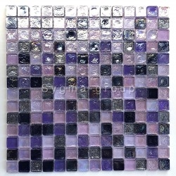 glass mosaic for wall and bathroom Arezo indigo
