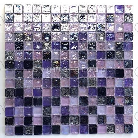 Mozaiek voor de muur en de vloer glas Arezo indigo