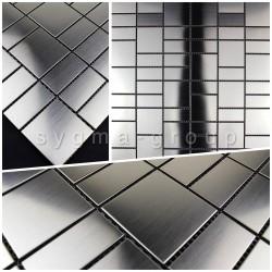 sample of stainless steel mosaic splashback kitchen ARGOS