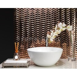 mosaic steel tiled metal for kitchen wall and bathroom Vernet