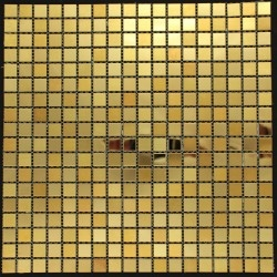 stainless steel mosaic walkinshower kitchen and bathroom Fusion Or