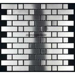 mosaicos de acero inoxidable Mi-BRI64