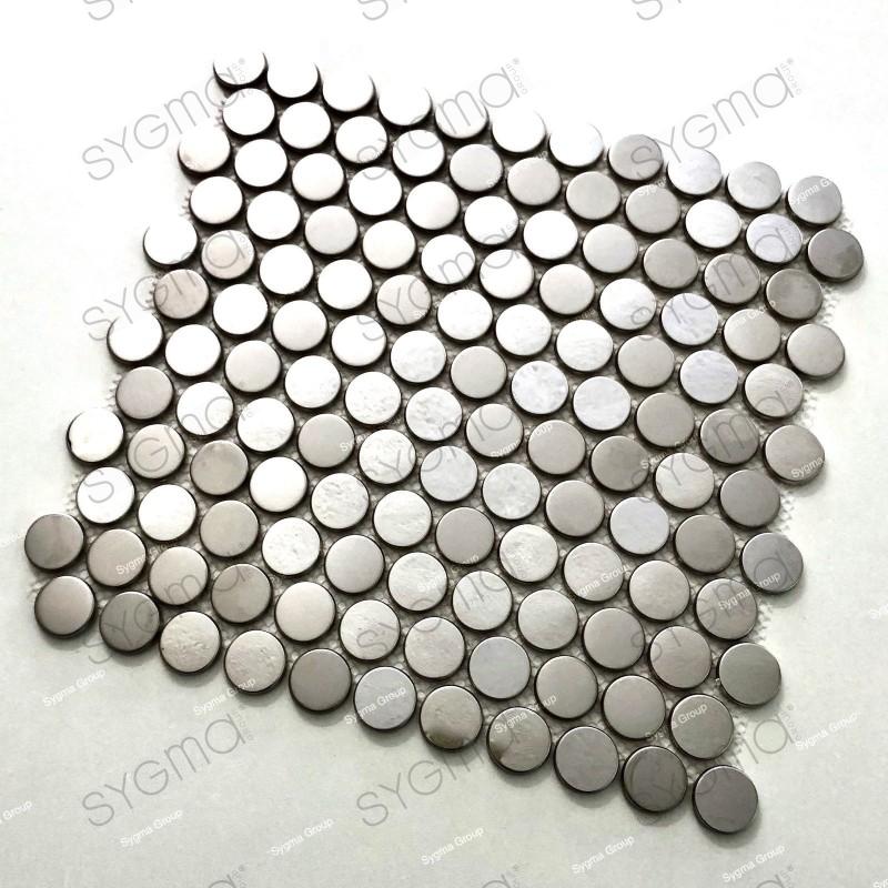 tessere di mosaico in acciaio inox effetto specchio per le pareti della cucina e del bagno BERKO