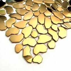 Mosaico em mosaico de metal dourado para parede ou piso de chuveiro e banheiro