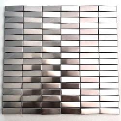 Mosaico a parete in acciaio 3D Mosaico metallico Shelter