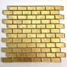 mosaic tile glass leaf gold color for wall TESSA OR