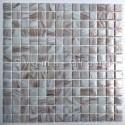 carrelage mosaique de verre pour salle de bain Speculo Blanc