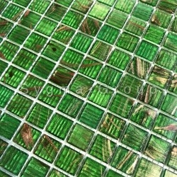 Gesmolten glas bad en douche Speculo Vert