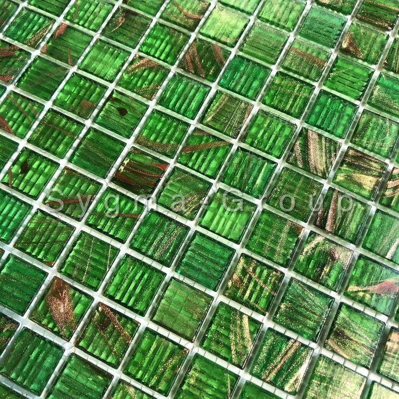Glass mosaic for shower and bathroom Speculo Vert