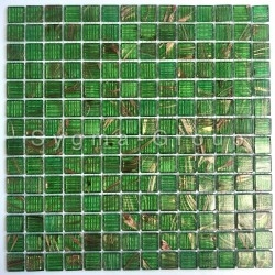 Glass mosaic for shower floor and wall in bathroom and kitchen Plaza Vert