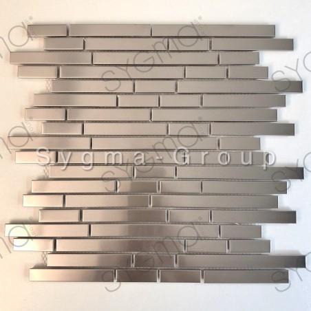carrelage mural en acier inoxydable pour mur de cuisine modele NORKLI