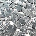 Baldosas mosaico de mármol para el suelo y la pared de la ducha Oria Gris