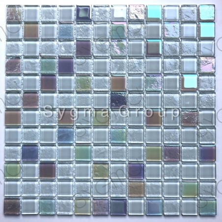 white glass tile mosaic for bathroom or kitchen Habay Blanc
