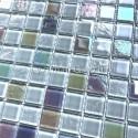 mosaico de mosaico branco de vidro para banheiro ou cozinha Habay Blanc