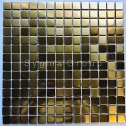 azulejos de aço inoxidável para uma cozinha ou casa de banho CARTO GOLD