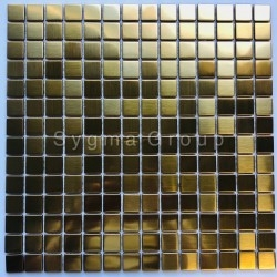 Mosaic stainless steel tiles for a kitchen or bathroom CARTO GOLD