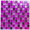 mosaic for bathroom and shower glass and aluminum Nomade Fuchsia