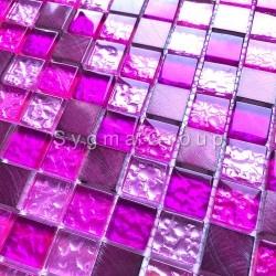 mosaico para banheiro e box de vidro e alumínio Nomade Fuchsia