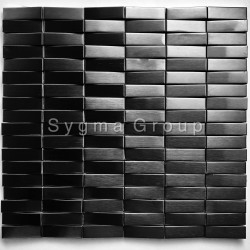 3D steel mosaic tile for walls Shelter Noir