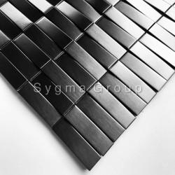 3D steel mosaic tile for walls Shelter Noir