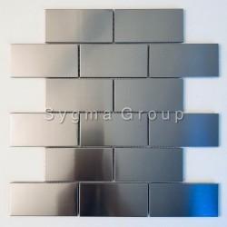 piastrella da rivestimento in acciaio inox per parete della cucina modello LOFT