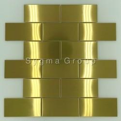 azulejo de aço para parede da cozinha LOFT GOLD