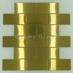 steel tile for kitchen wall backsplash LOFT GOLD