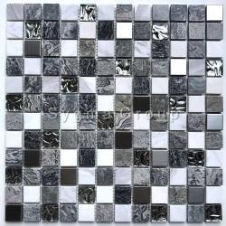 Stein und Glasmosaik Badezimmer und Dusche Willa
