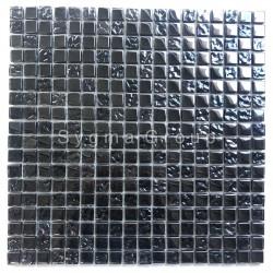 Zwarte iriserende glazen tegels en mozaïek voor keuken en badkamer Kerem