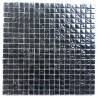 Iridescent black glass tile and mosaic for kitchen and bathroom Kerem