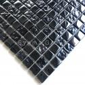 Tessere di vetro nero cangiante e mosaico per cucina e bagno Kerem