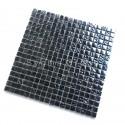 Azulejos de vidro preto iridescente e mosaico para cozinha e banheiro Kerem