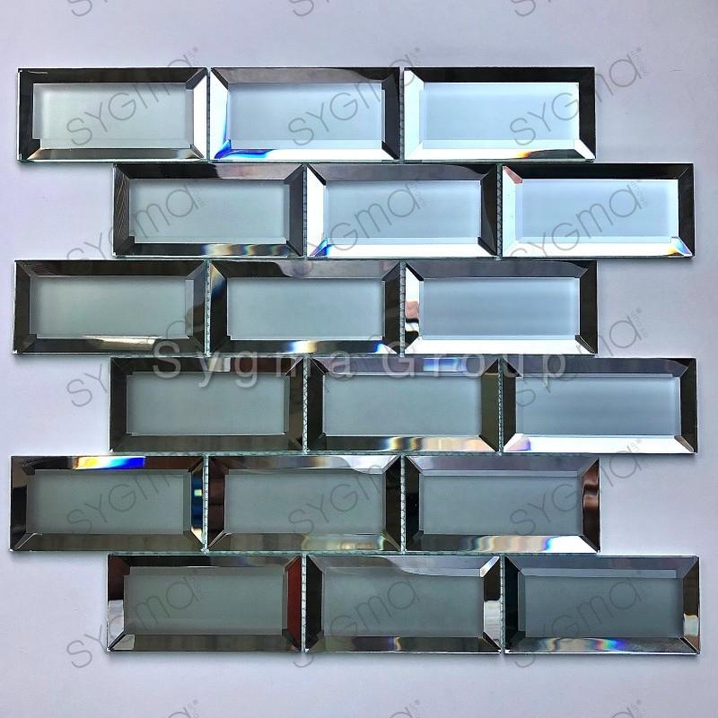 Carrelage mural carreaux metro pour cuisine en verre transparent Lazarre