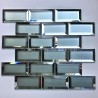 Wall tiles subway kitchen backsplash tiles mirror and frosted glass Lazarre