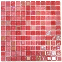 red glass mosaic tile for...