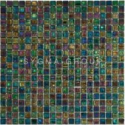 Mosaique vert irisé pour...