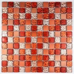 Mosaik für Bad und Dusche Glas und Aluminium ma-nom-ora
