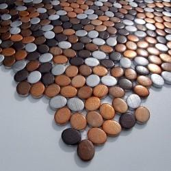 alumínio de piso e parede de mosaico ma-ova-mar