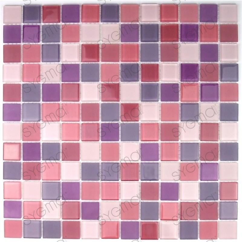 Mosaico in vetro doccia e bagno mv mau mix sygma group - Mosaico vetro bagno ...