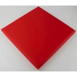carreau en similicuir panneau cuir mur cuir pan-sim-3030-rou
