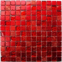 mosaic glass tile and stone Alliage Rouge